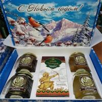 Подарочный набор новогодний «Куштанаш №1» с медом