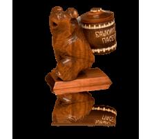 Подарок с мёдом Медведь с бочонком 100 гр.