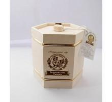 Подарок с мёдом Бочонок белый 6 граней 500 гр.