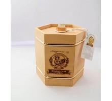 Подарок с мёдом Бочонок тёмный 6 граней 300 гр.
