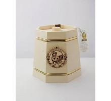 Подарок с мёдом Кадушка белая 6 граней 500 гр.