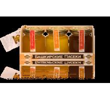 Подарочный набор с мёдом 3*150 грамм Ларец