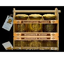 Подарочный набор с мёдом 3*250 Ларец