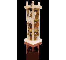 Подарочный набор с мёдом и орехами 3*180 Пирамида