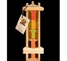 Подарочный набор с мёдом 4*40 грамм Пирамида