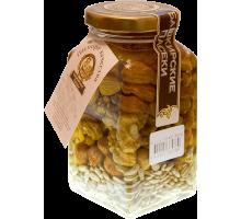 Цветочный мёд с орехами ассорти, 360 гр.