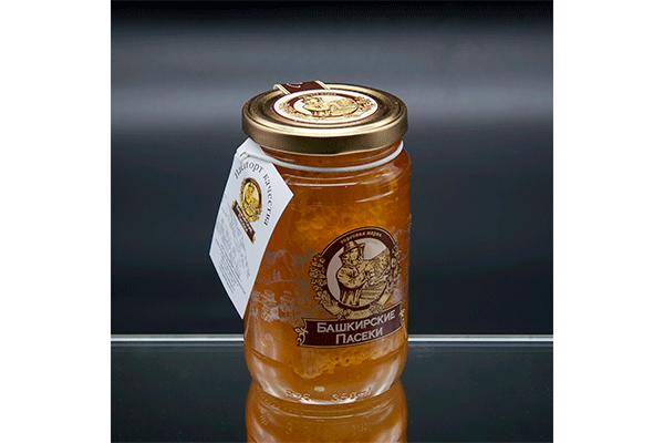 """""""Пасеки-500"""" цветочный мёд с сотой 500 гр"""