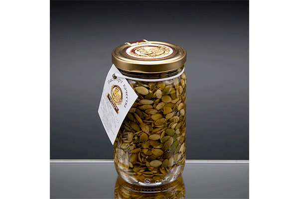 """""""Пасеки-500"""" цветочный мед с семенами тыквы 440 гр"""