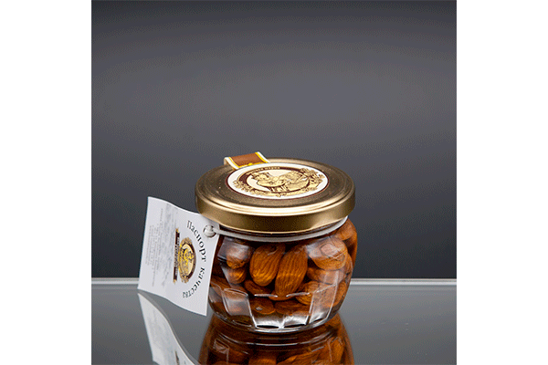 «Горшочек» цветочный мед с миндалем 180 гр