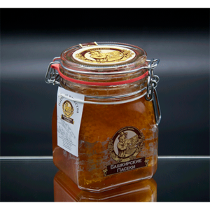 """""""Замок"""" цветочный мед с сотой 1100 гр"""