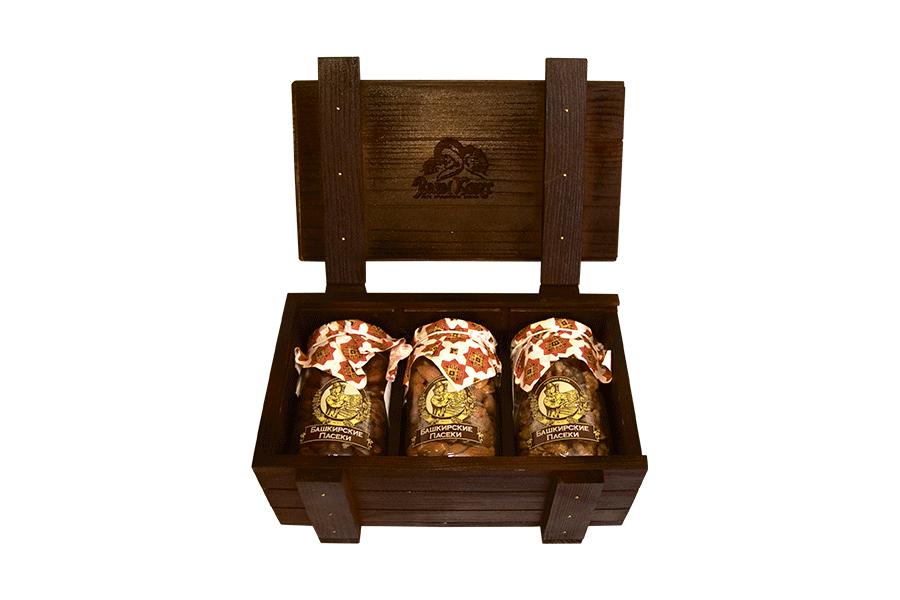 """Набор сувенирный """"HONEY BOXE PASEKI"""" с орехами"""