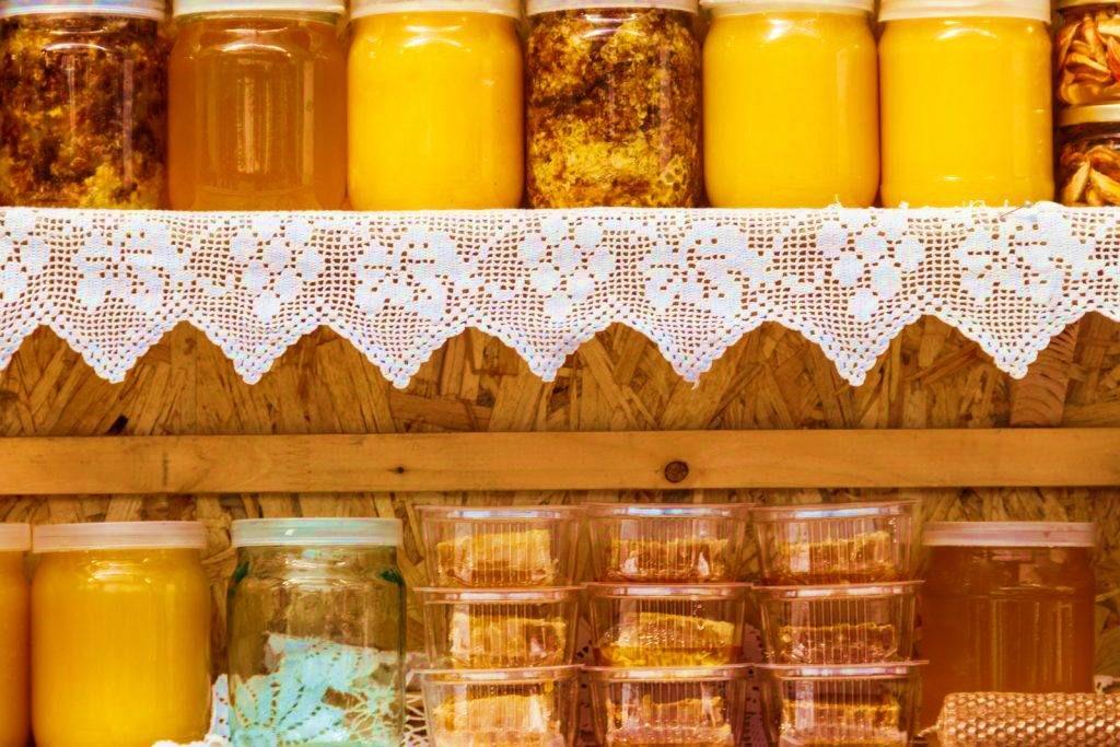 хранение меда в стеклянных тарах